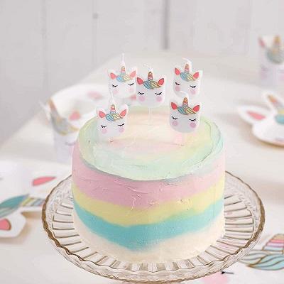 bougies d'anniversaire licorne pour gateau