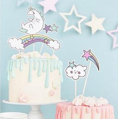 cake topper decoration gateau licorne anniversaire