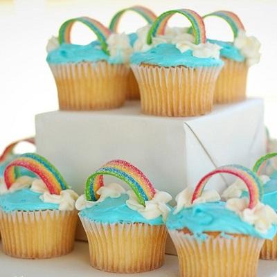 cupcake arc en ciel decoration candy bar licorne