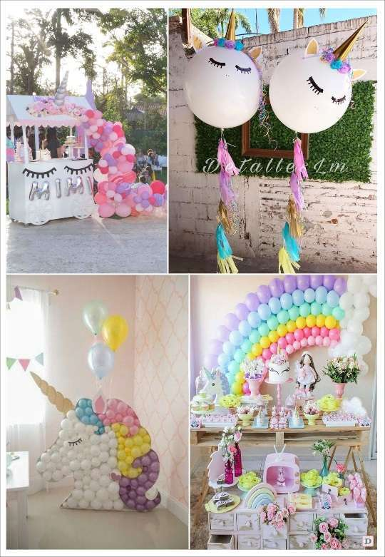 anniversaire licorne deco petite fille. Black Bedroom Furniture Sets. Home Design Ideas