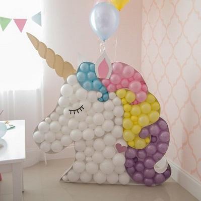 decoration anniversaire licorne avec ballons