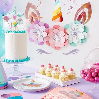 décoration murale licorne pour anniversaire fille