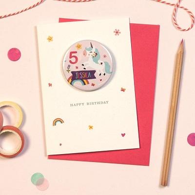 carton invitation anniversaire licorne badge