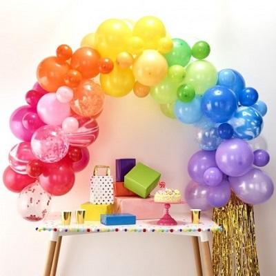 arche ballon arc en ciel decoration anniversaire