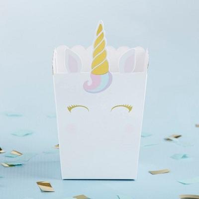carton pop corn licorne candy bar anniversaire