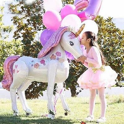 licorne geante ballon aluminium mylar