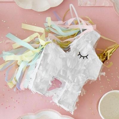 mini pinata boite bonbons cadeau anniversaire licorne