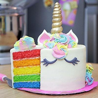 rainbow cake licorne gateau anniversaire