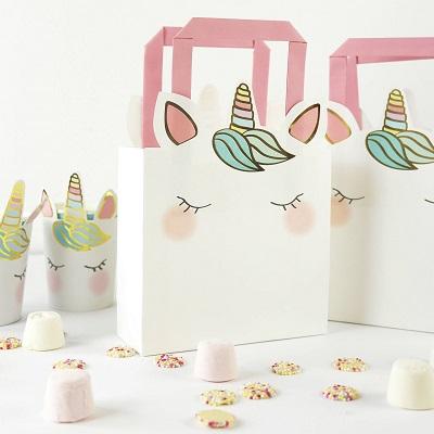 sac bonbons licorne cadeau anniversaire enfant