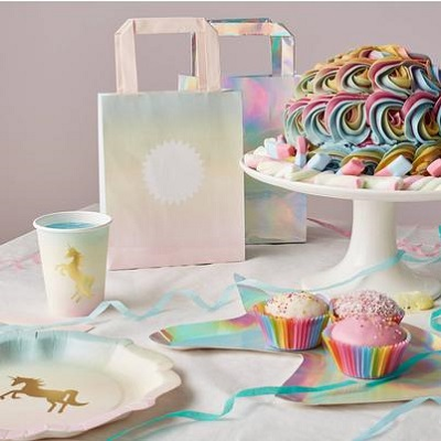 vaisselle carton licorne anniversaire
