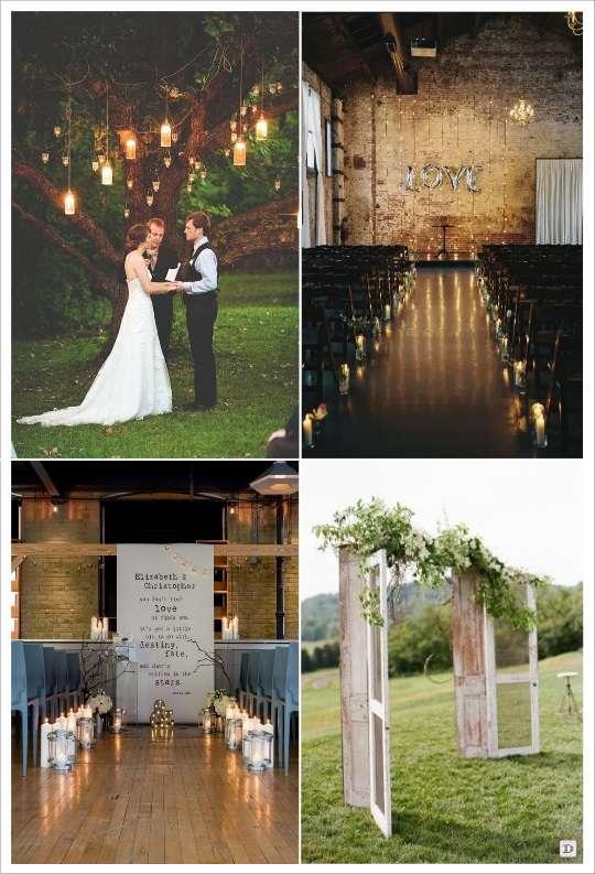 decoration mariage lieu cérémonie portique lanternes ballon lettre fenêtre toile personnalisee