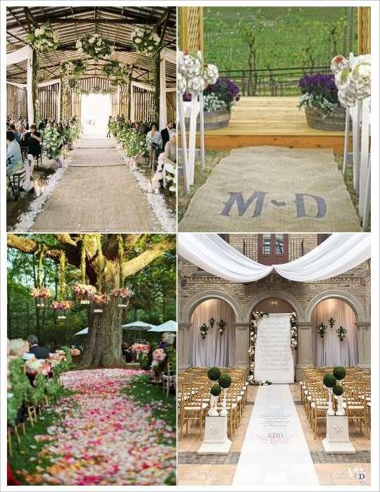 Idee deco eglise mariage - Tapis personnalise mariage ...