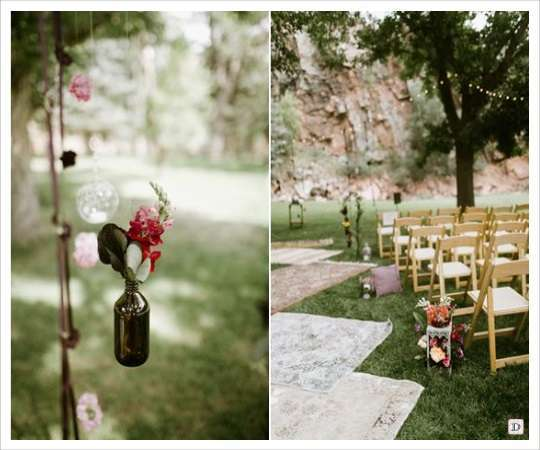 decoration mariage lieu cérémonie sol tapis