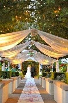 decoration mariage lieu cérémonie voilages
