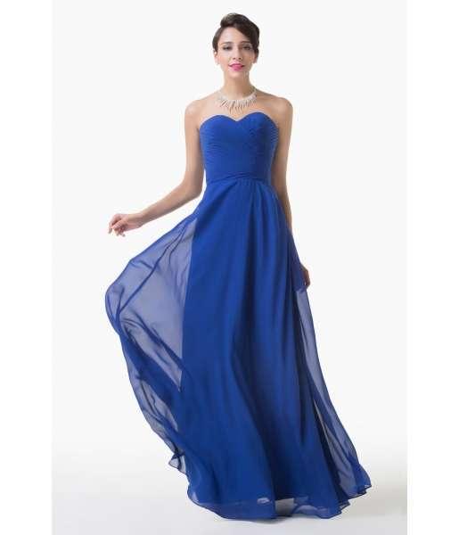 robe de soiree bleue