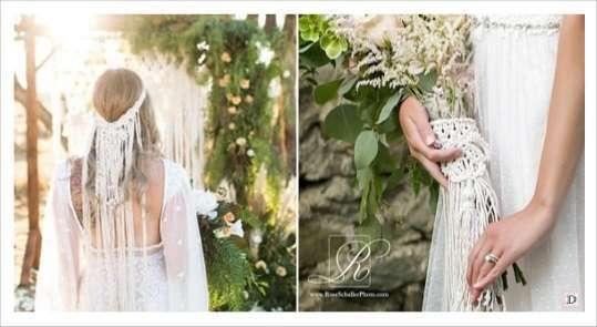accessoires mariage macrame fourreau bouquet coiffe