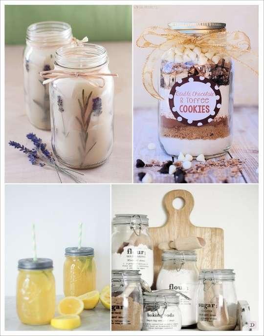 mason jar diy bocal en verre sel chocolat en poudre verre citronnade avec paille