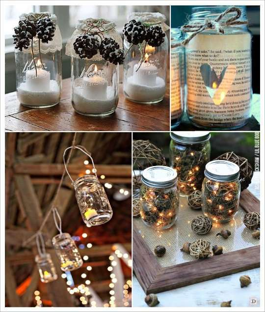 Diy mason jar bocal en verre 1001 id es - Table de coupe verre ...