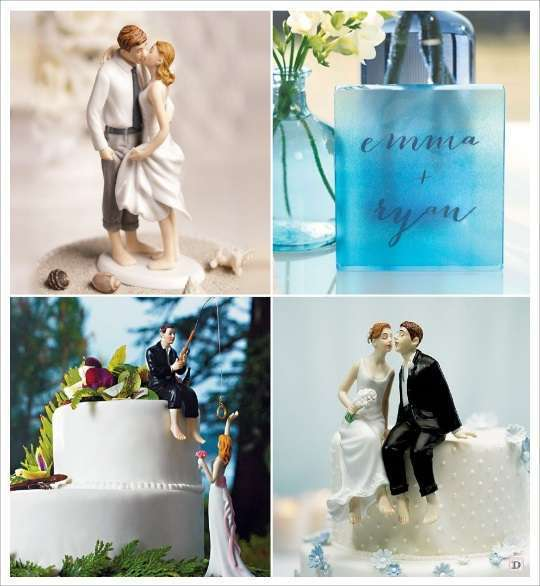 figurine de mariage mariage theme mer