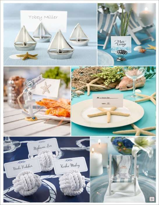 Mariage mer : Le marque-place