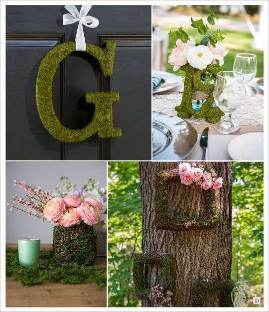 decoration_mariage_mousse_vegetale_artifificielle_monogramme_vase_cadre