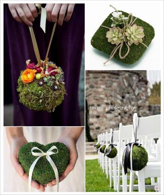 decoration_mariage_mousse_vegetale_artifificielle_boule_de_mousse_porte_alliances_decoration_bancs