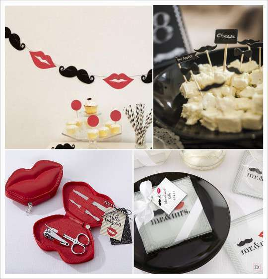 decoration_mariage_mrmrs_guirlande_moustache_bouche_pics_cupcake_moustache_kit_manucure_dessous_verre