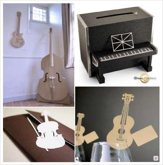 theme mariage musique plein d 39 id es. Black Bedroom Furniture Sets. Home Design Ideas