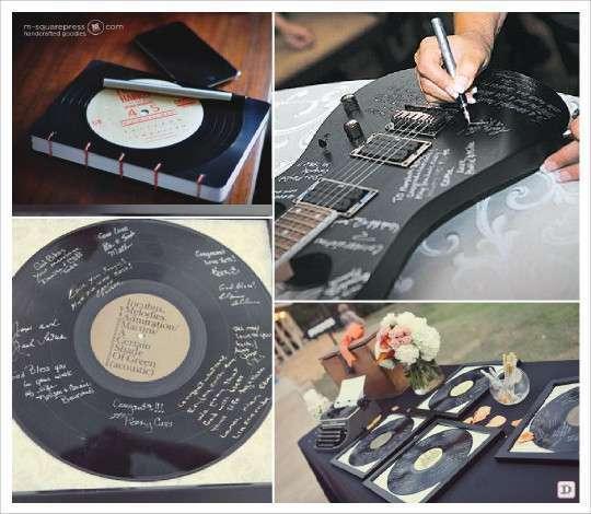 mariage musique livre do disque vinyl guitare ecriture