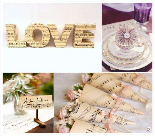 Theme mariage musique plein d 39 id es - Marque place mariage champetre ...