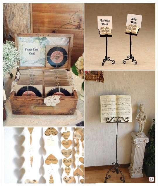 theme mariage musique. Black Bedroom Furniture Sets. Home Design Ideas