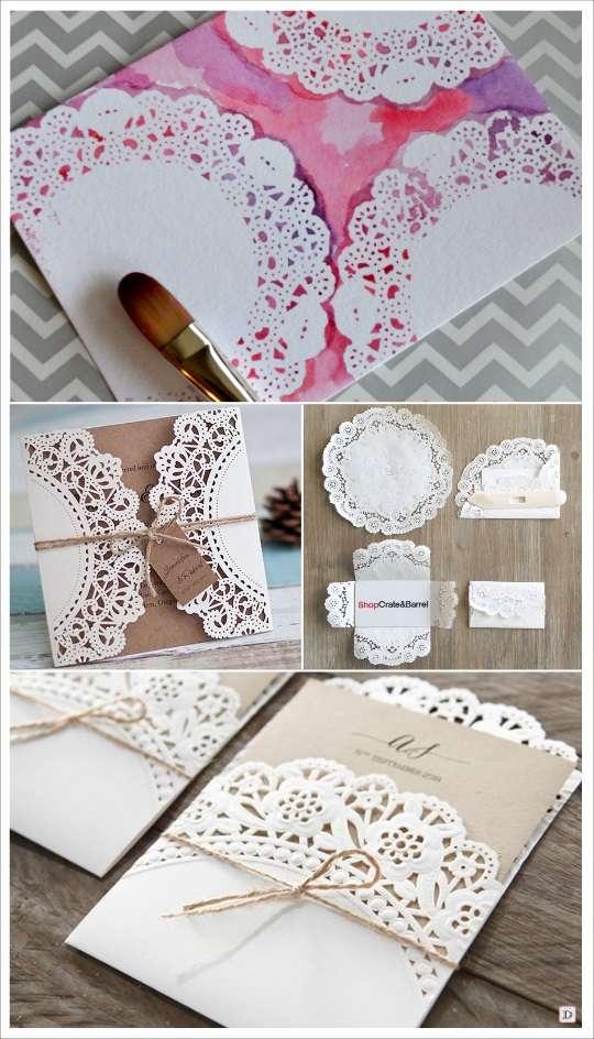 idées diy napperons papier faire part mariage