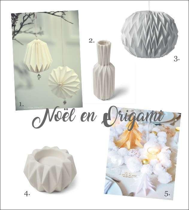 decoration table noel origami vase bougeoir-suspension