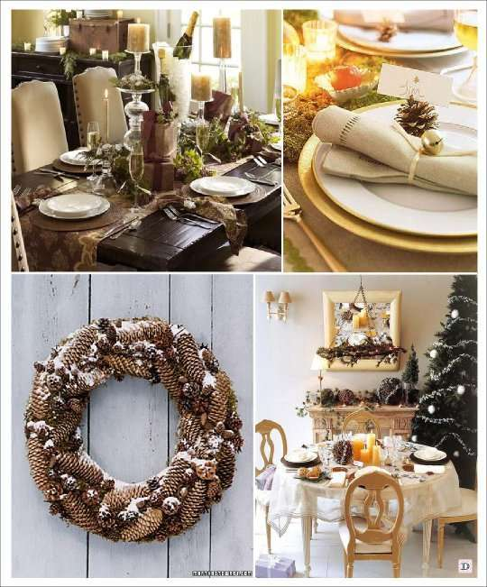 Deco de table noel for Couronne de noel bois flotte