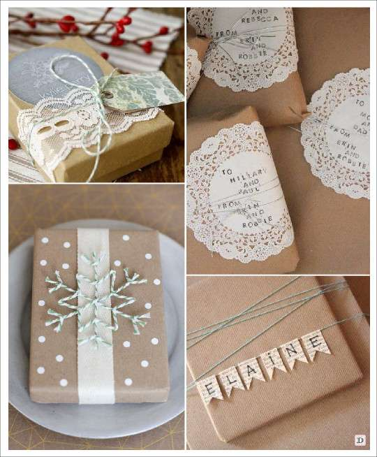 Id es emballage cadeau noel diy - Papier cadeau kraft ...