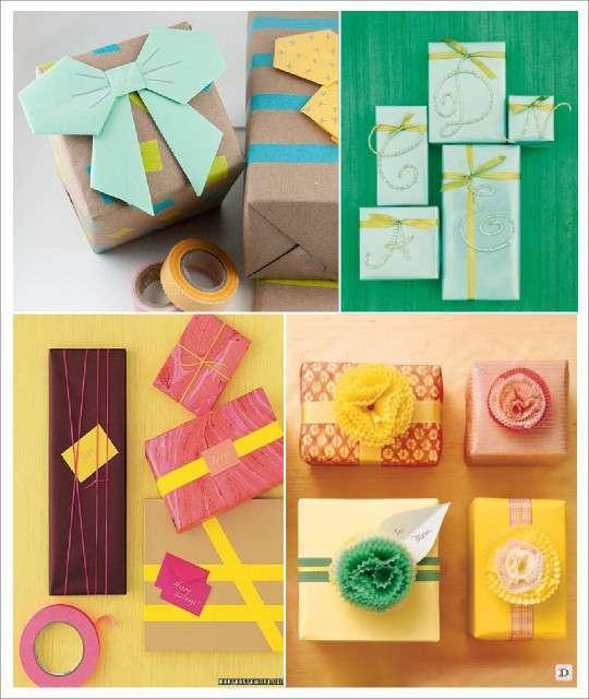 Id es emballage cadeau noel diy for Noeud decoration noel