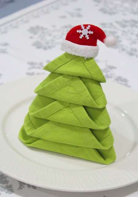 Pliage serviette noel - Pliage de serviettes pour noel simple ...
