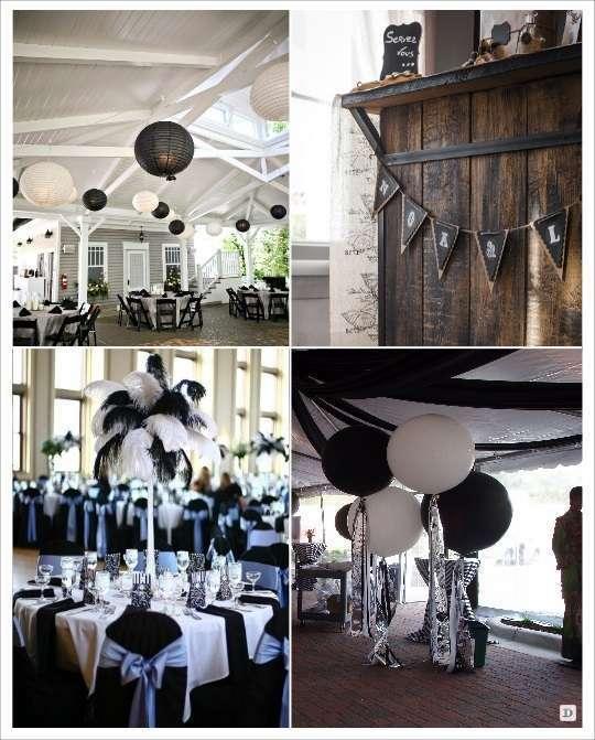 Decoration De Mariage En Noir Et Blanc