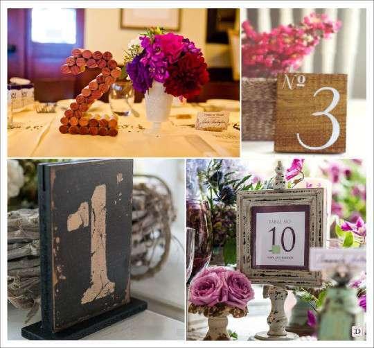 porte numéro de table noms de table liege_bois cadre