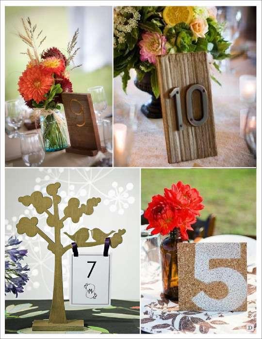porte numéro de table noms de table arbre bois pyrogravure