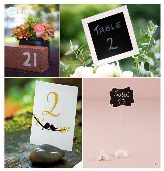 Idees porte numero de table for Decoration de table porte photo