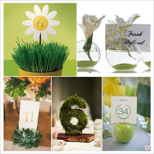 ideas for table name tag wedding and decoration