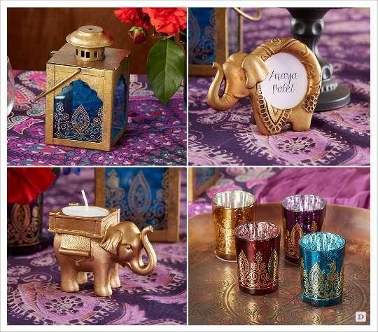 mariage oriental cadeaux invites lanterne orientale cadre elephant bougeoir photophore oriental