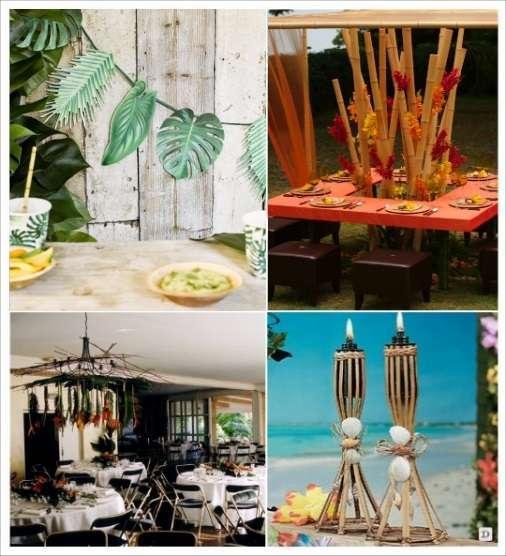 decoration mariage tropical decoration salle boule en verre suspendues bambou