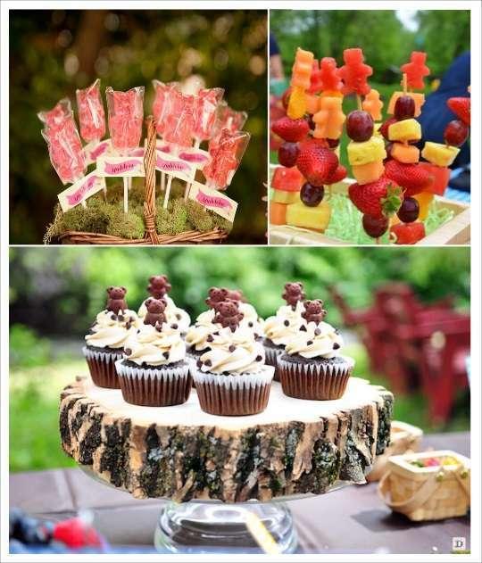candy bar ourson sucette brochette de fruits cupcake