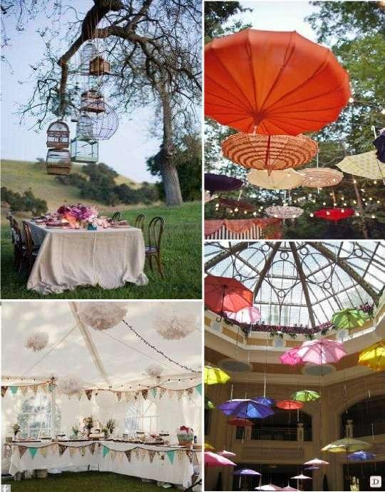 decoration_mariage_salle_plafond_ombrelle_parapluie_cage