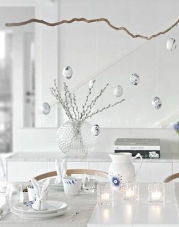 table de pâques blanche et moderne originale