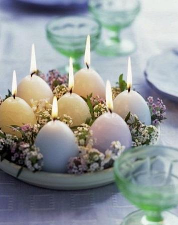 dIY bougie oeuf pour décoration de pâques