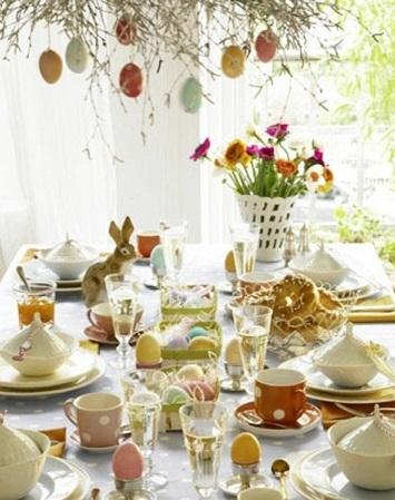 décoration pâques vintage et florale