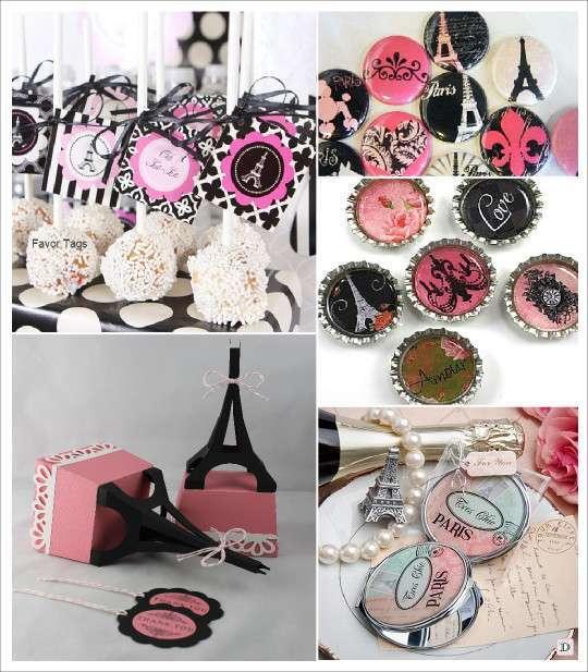 mariage paris_cake_pops_magnet_badge_miroir_boite_dragees_tour_eiffel - Gateau Dragee Mariage